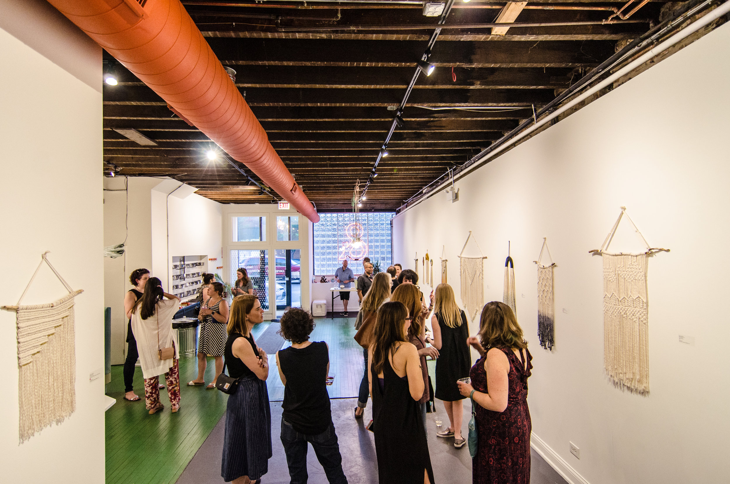 decorations - We love seeing how you spruce up the joint. Please note the following about event decor.All decorations must be approved in advance. Reach out in advance to chat with us so we can give you the green light.Because we are an art gallery as well as an event space, we do not allow tape on the walls.For safety reasons, nothing can be hung from light fixtures and there can be no open flames.If you plan to move furniture, we need to approve it and we'll take care of it per the space rental agreement fees.