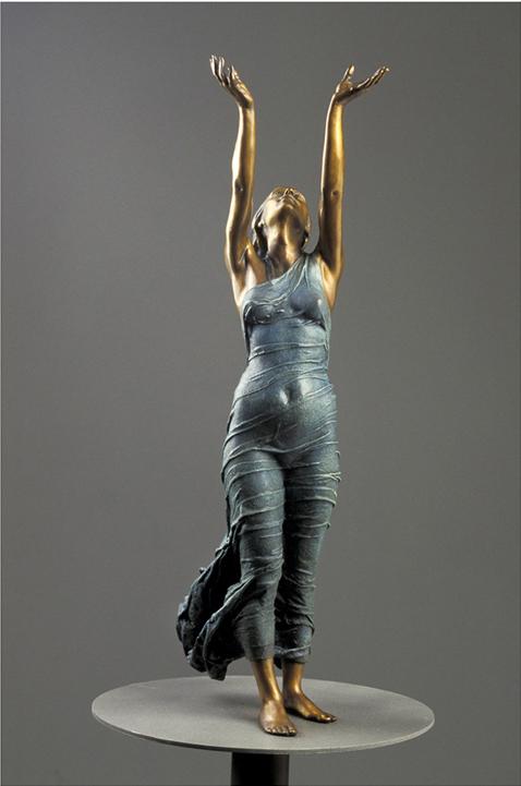 Aurora's Gift  - 40 X 12 X 8 in cast bronze