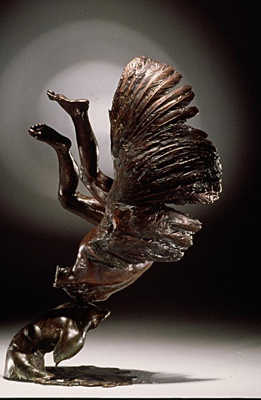 Narcis Icarus  - 15 X 12 X 7 in cast bronze