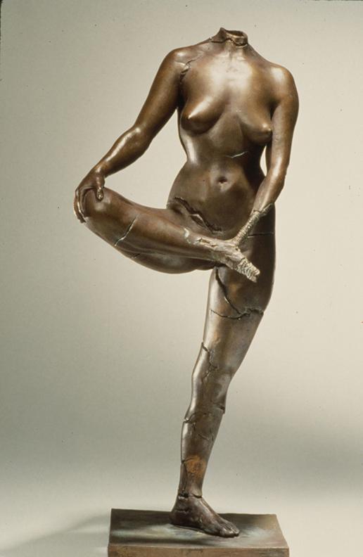 Cassandra  - 36 X 15 X 12 in cast bronze
