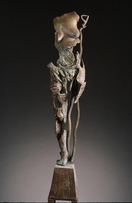 Dance of Endurance 2  - 40 X 9 X 8 in cast bronze