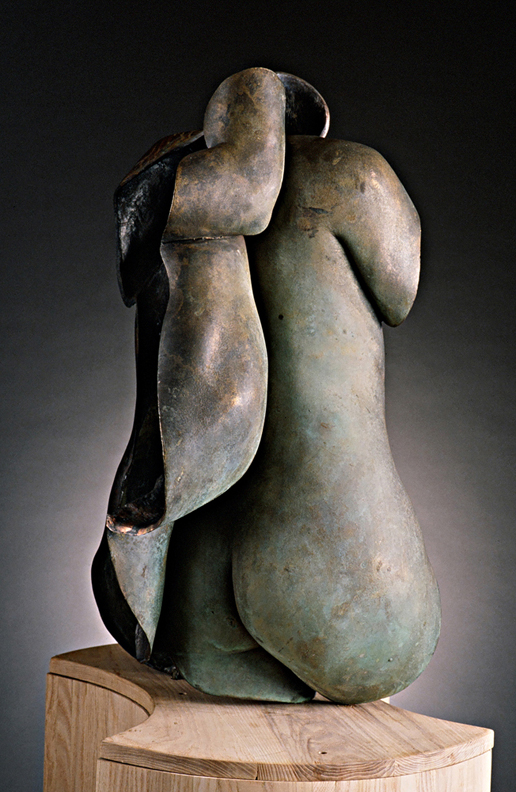 Shared Boundaries - 34 X 20 X 23 in cast bronze