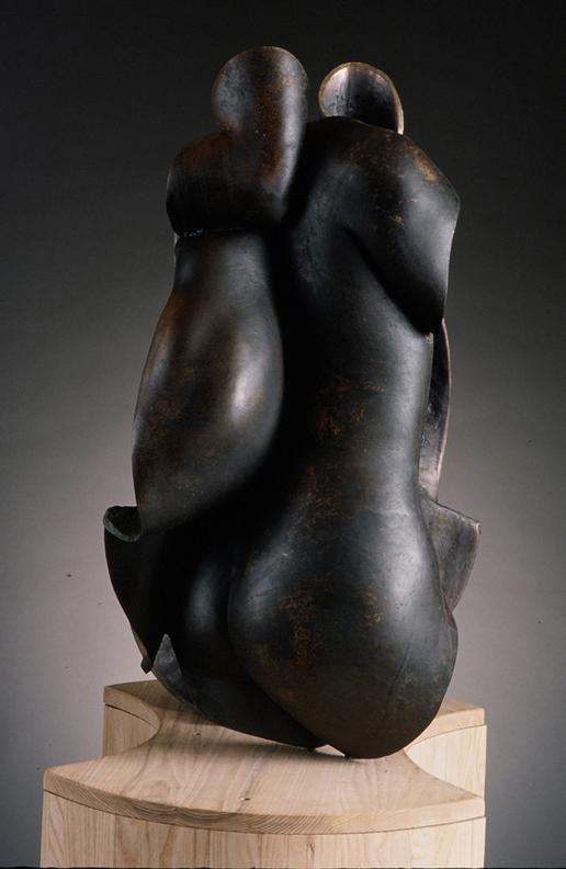S  hared Boundaries - 34 X 20 X 23 in cast bronze