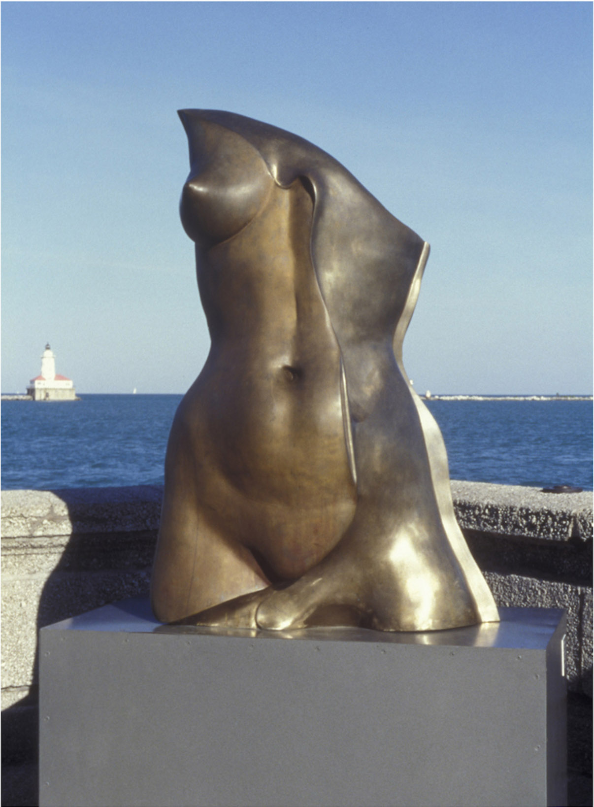 Res - 8' X 4' X 3' in cast bronze (1999)at Navy Pier in Chicago, IL