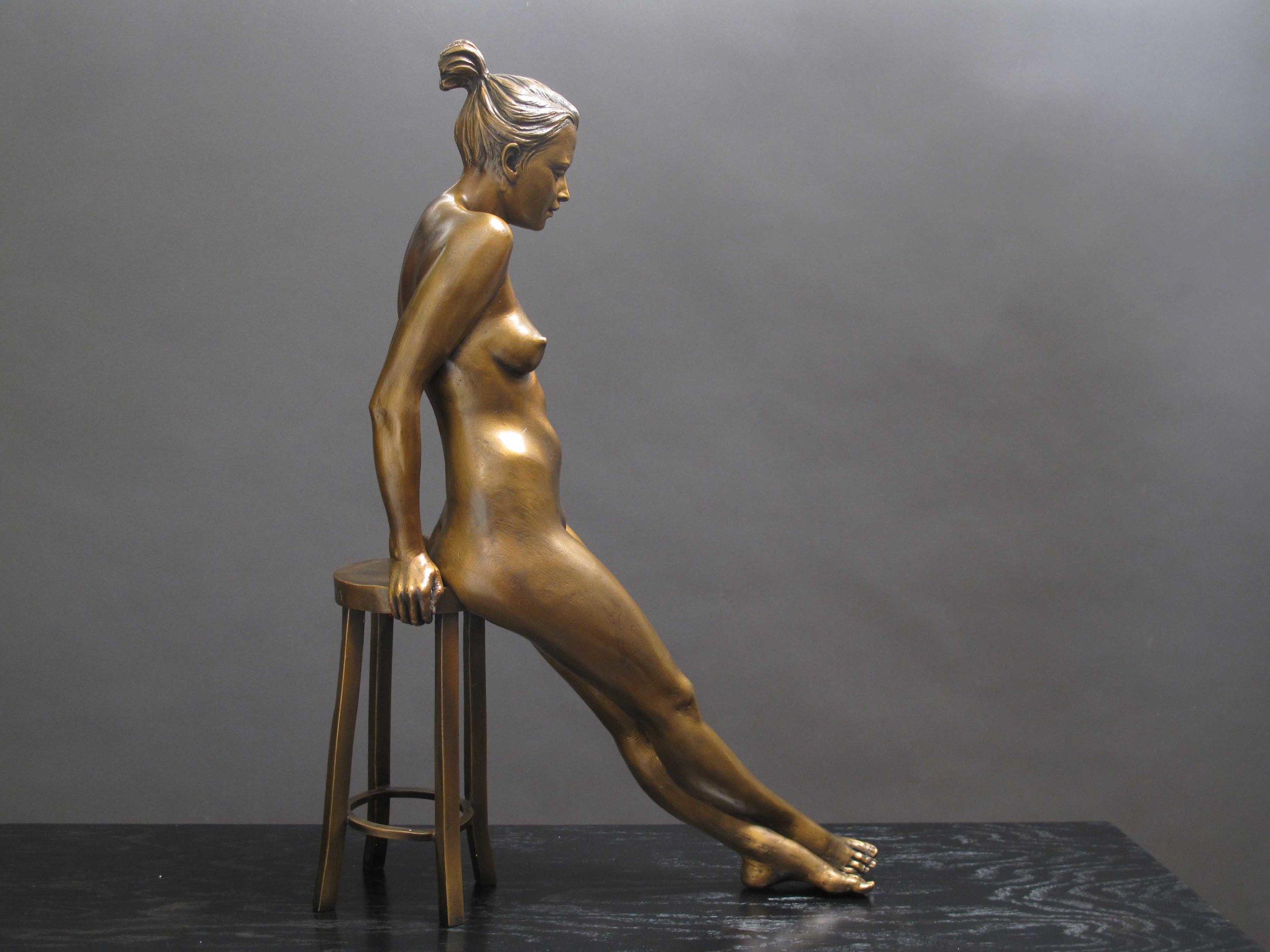 Await  - 18 X 13 X 5 in cast bronze