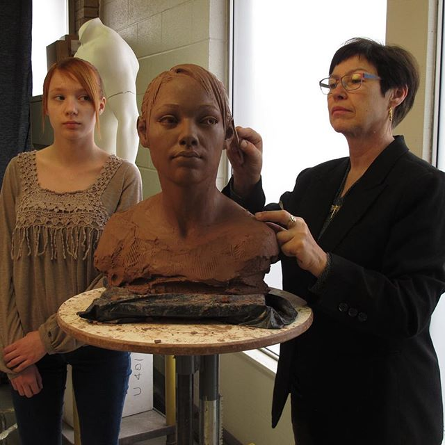 June 24 - 28  Modeling the Head, Hands and Feet with Dora Natella, FNSS, $650, plus materials, model's fees  This intensive workshop focuses on creating a portrait from direct observation of a live model, including the study of hands and feet using water-based clay. Dora Natella will demonstrate step by step a series of skills needed to create a more convincing and expressive form. In particular, we will address proportions, balance, and anatomical structures that create or influence surface form. During the first day or two, Dora will provide several sculpture demos in clay. During the last three days, she will assist students and provide individual feedback on their progress. This is a mixed level workshop that is open to students of all levels including beginners. For more information visit Brookgreen Gardens at https://www.brookgreen.org/sculpture-workshops.  #workshops  #portraits  #claysculpture  #clayart  #clayportraits