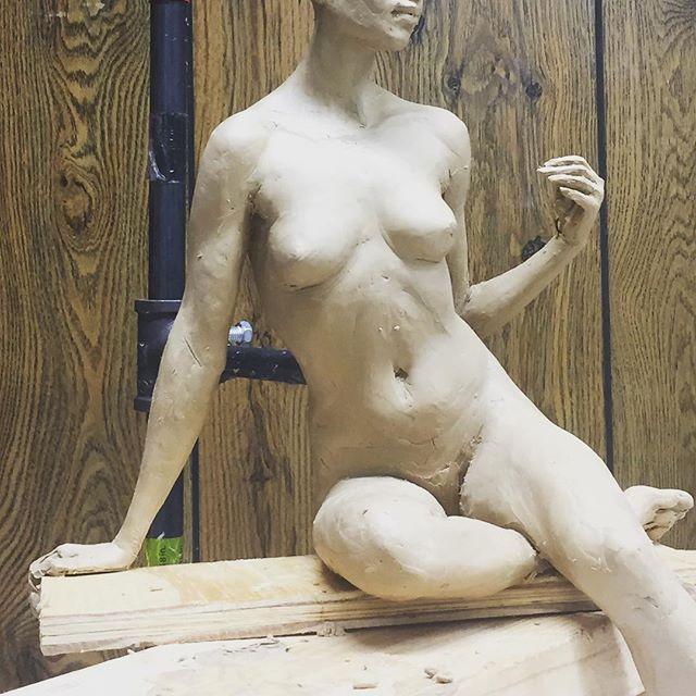 New , work in progress. # academic artwork #nude sculpture  #artistsoninstagram  #sculpture