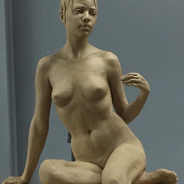 Work in progress #academicartwork #sculpture #figurativesculpture #galleryart
