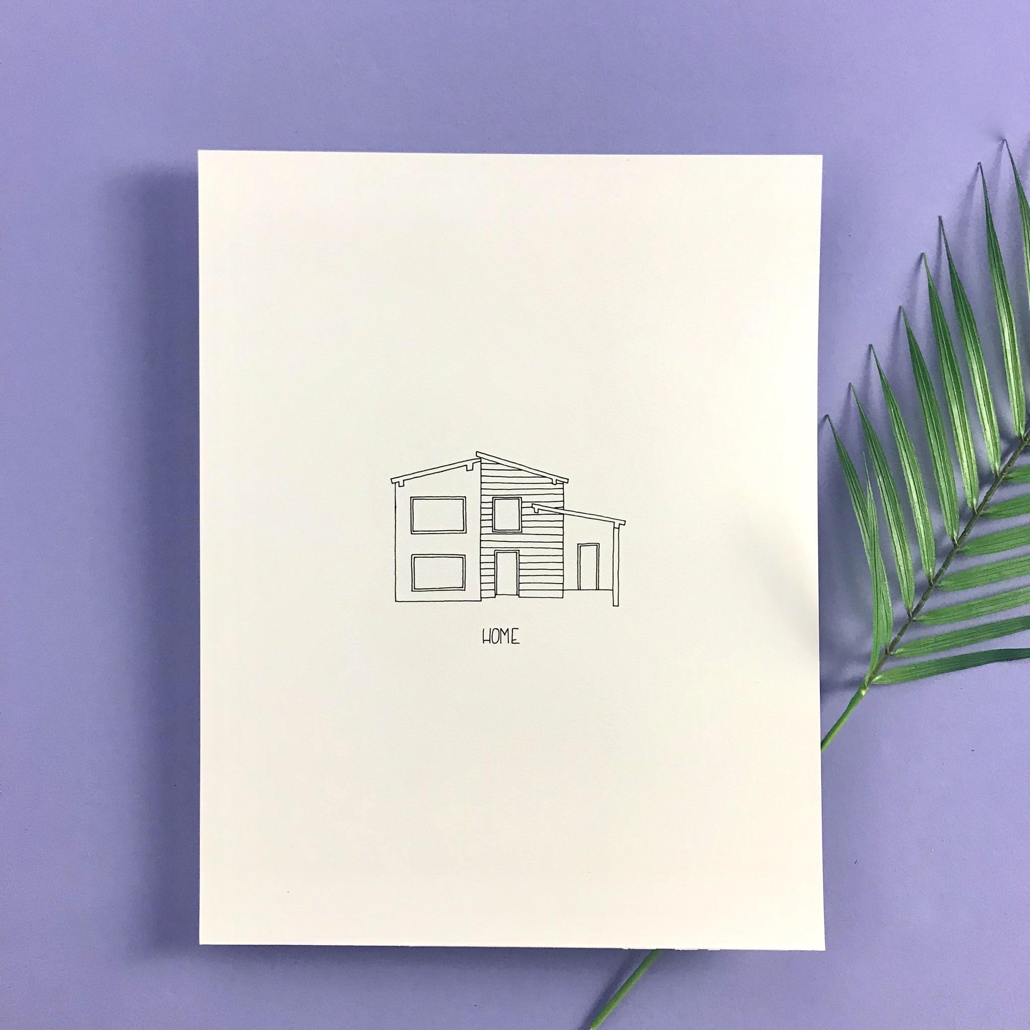 11X14 HOME - $85