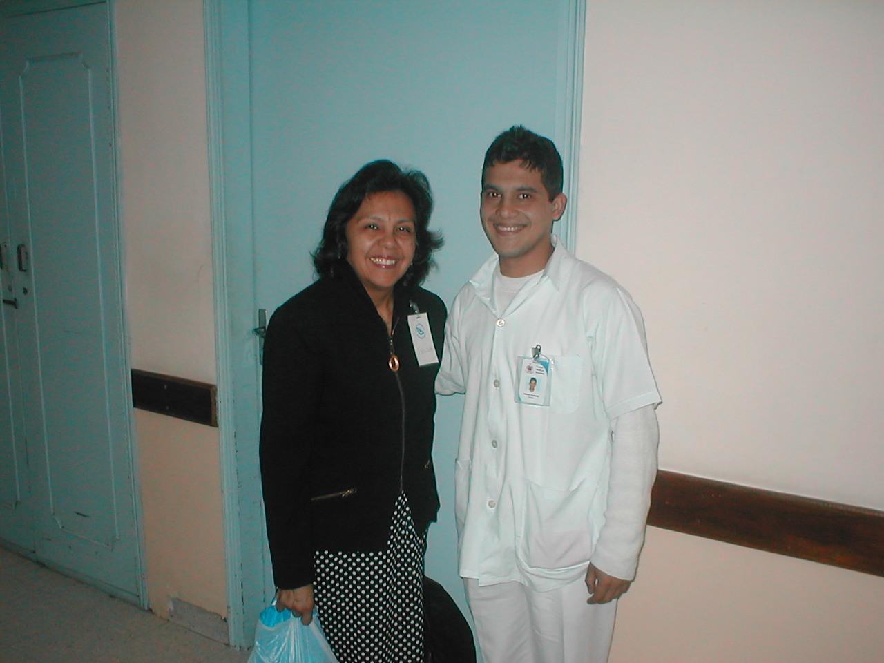 Felisa with Nelson  Diaz, Clyde E. Bay Foundation Nurse Tech