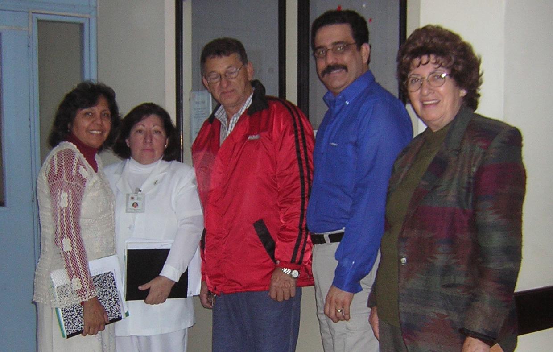 Felisa, Lic. Edith de Gomez, Patient Ramon, Randy & Celmira
