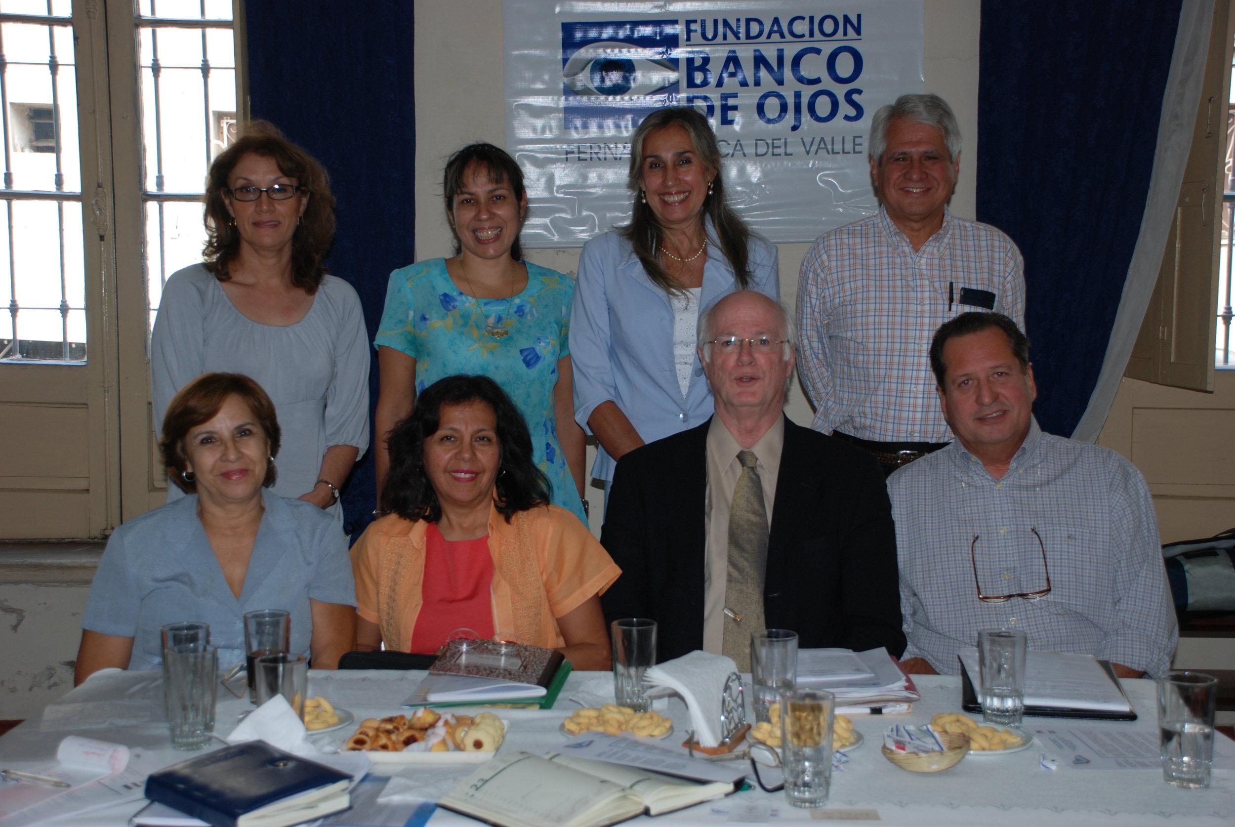 Successful meeting at Banco de Ojos.