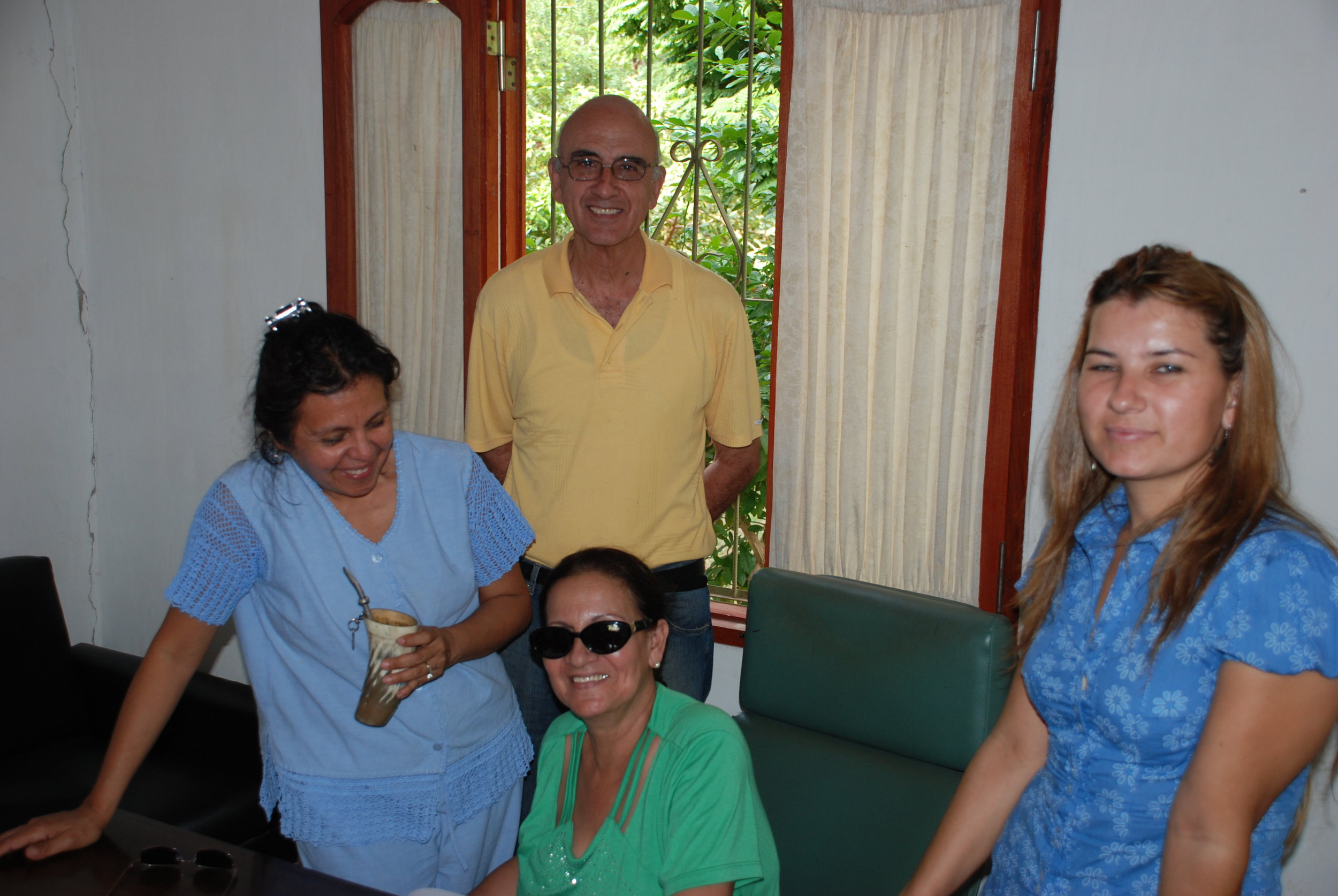 Mr Jose and Mrs Angelica Finestra, supporters of the hospital, with Dr. Isidora Guzman, Coordinator of Centro De Salud de Tobati