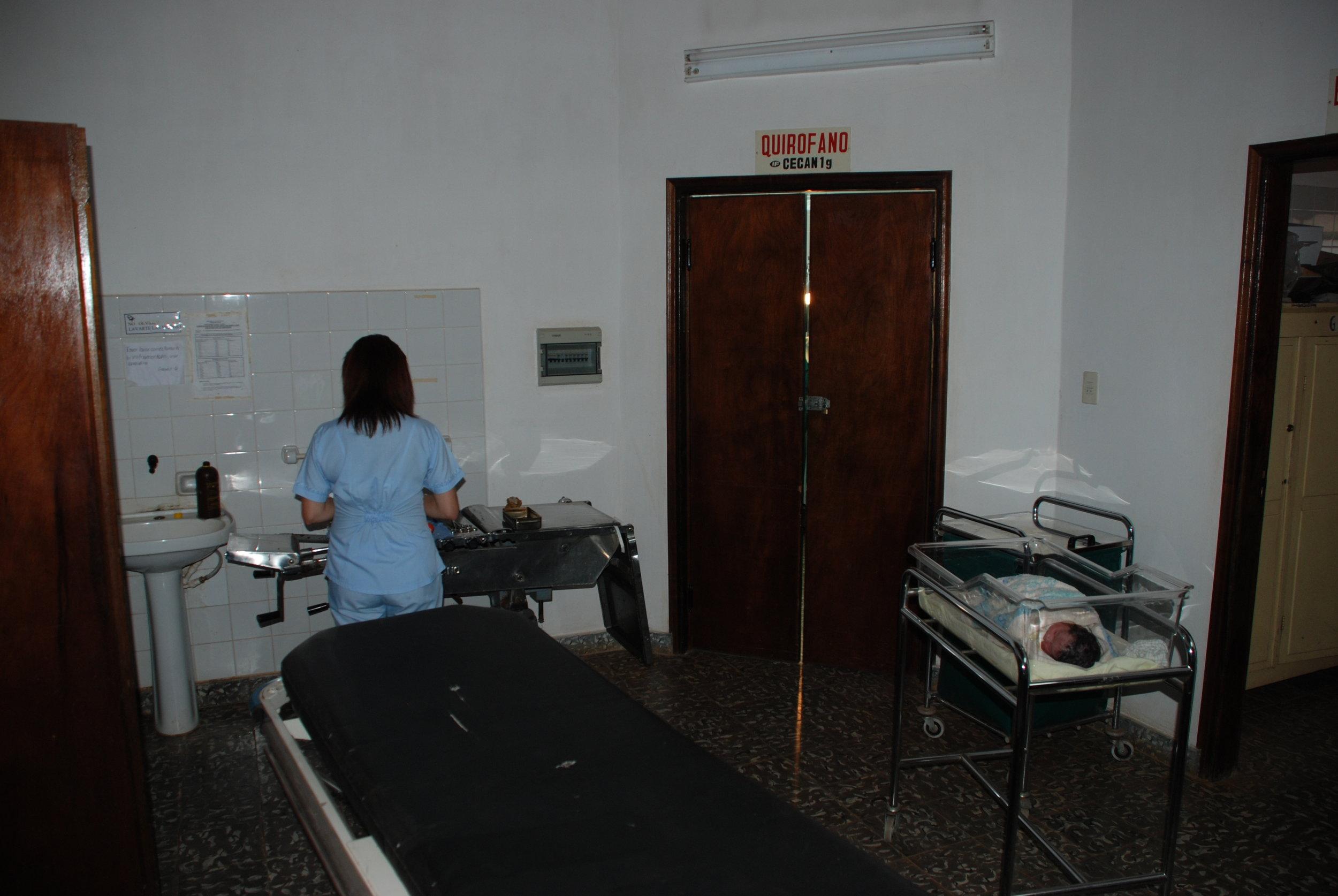 Healthy newborn at Centro De Salud de Tobati