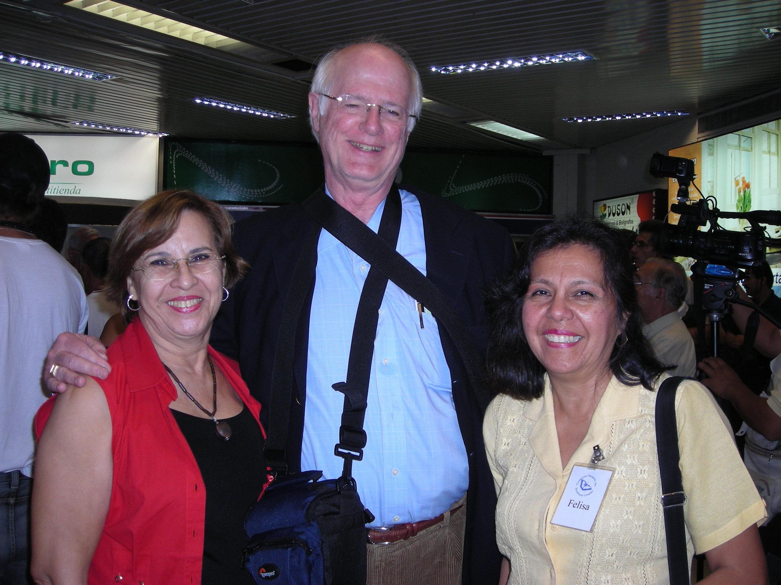 Ms. Oliva Riva, hostess to Project C.U.R.E. volunteer Mr. Raymond White and Fundacion Panambi volunteer, Mrs. Felisa De Kler