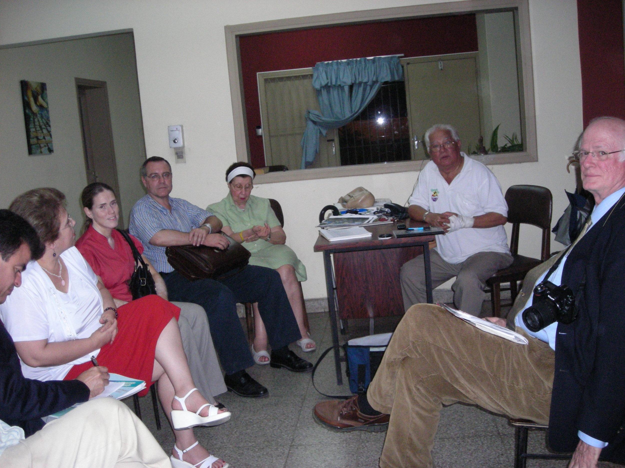 Project C.U.R.E. presentation to E. Lezcano,Dra.L Quintana, Dra. L. Fontclara, Ing. C. Lopez, Ms. Marta Bosio, Pbro. B. Paez