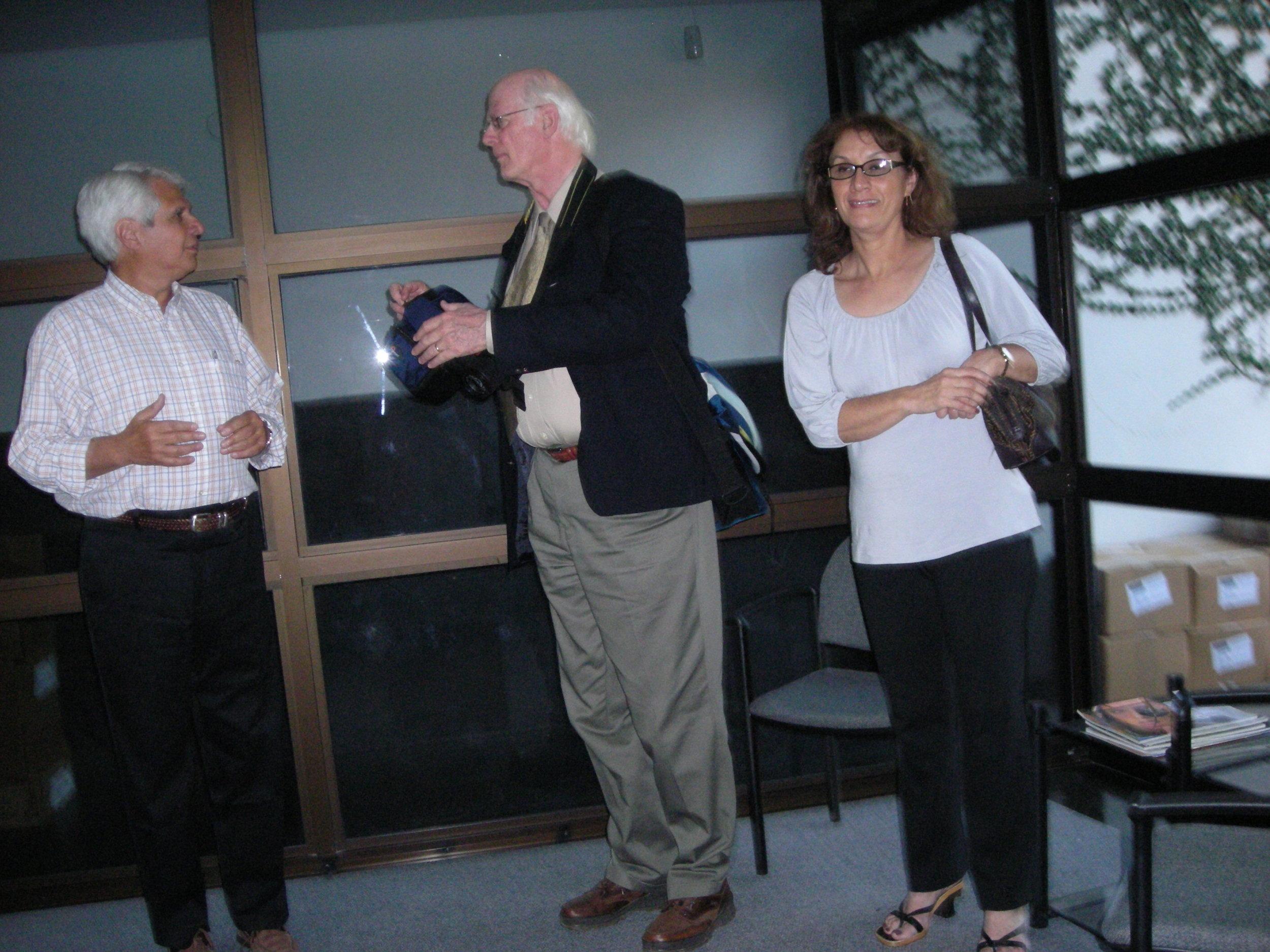 Project C.U.R.E. assessment at Dr. Antonio Cubilla's Pathology Clinic by Mr. R. White and Fundacion Panambi volunteer, Mrs. Susana Duarte