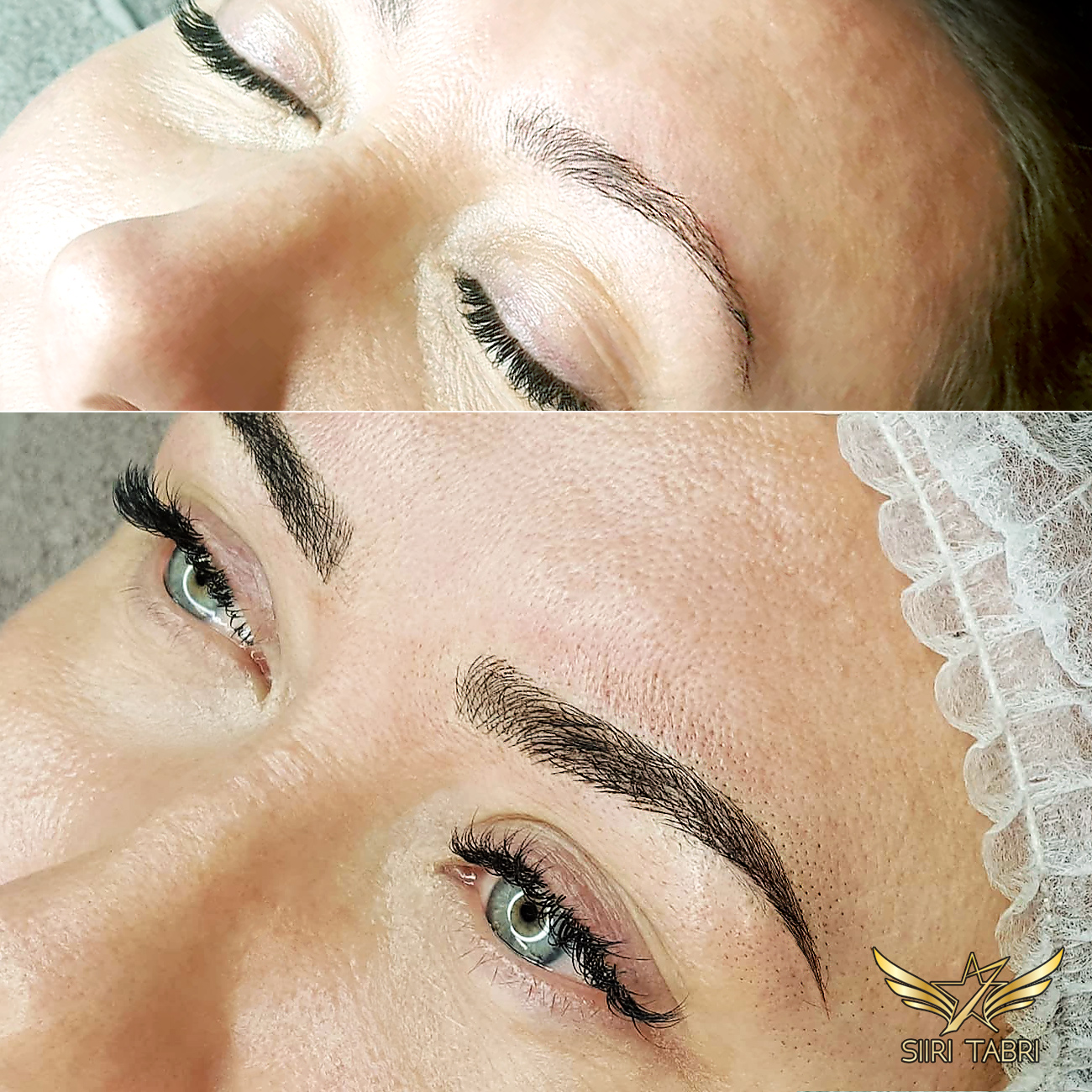 SharpBrows Light microblading. Shape of the brow was changed and it was filled naturally. When it comes to Light microblading the number of lines is double compared to traditional. And that is why it is so popular.