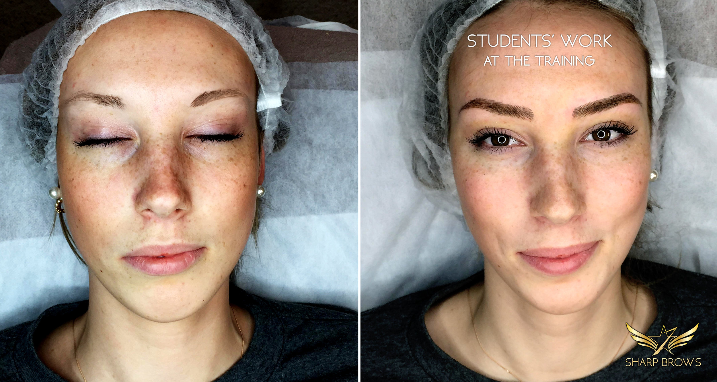 Students work at the training. We are convinced that Artist 3.0 - Light microblading course is the best in the world. Here is just one example how it changes human face.