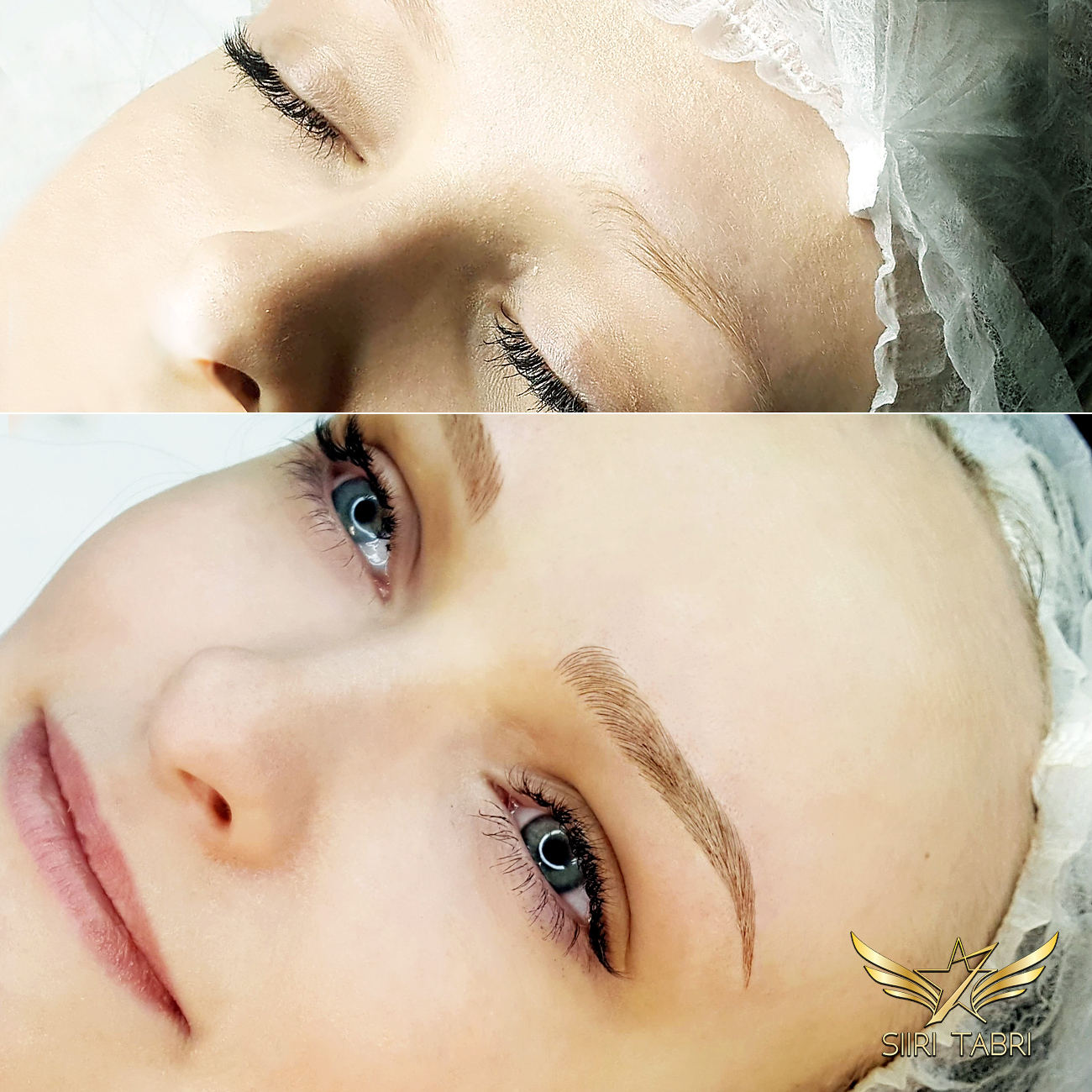 SharpBrows Light microblading. The goal of light microblading is always to achieve microblading that is totally undetectable from clients' own brow hair.