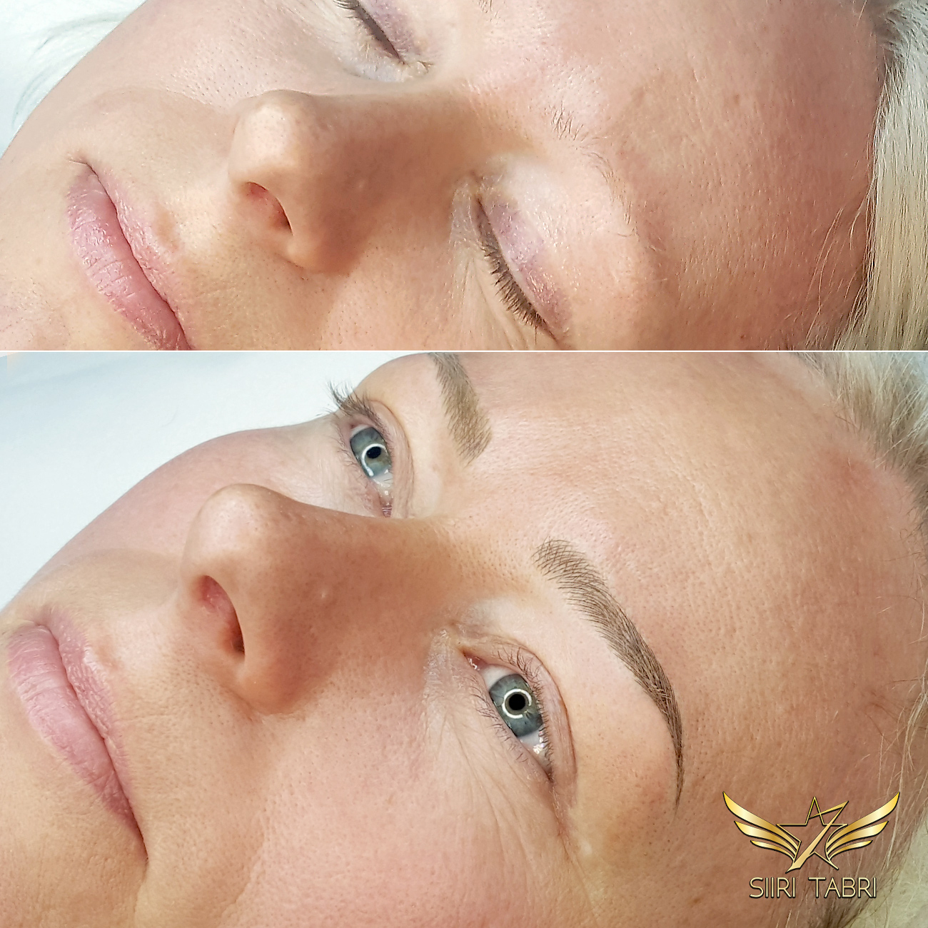 SharpBrows Light microblading -. Brows created from nothing at all. The results are extremely natural.