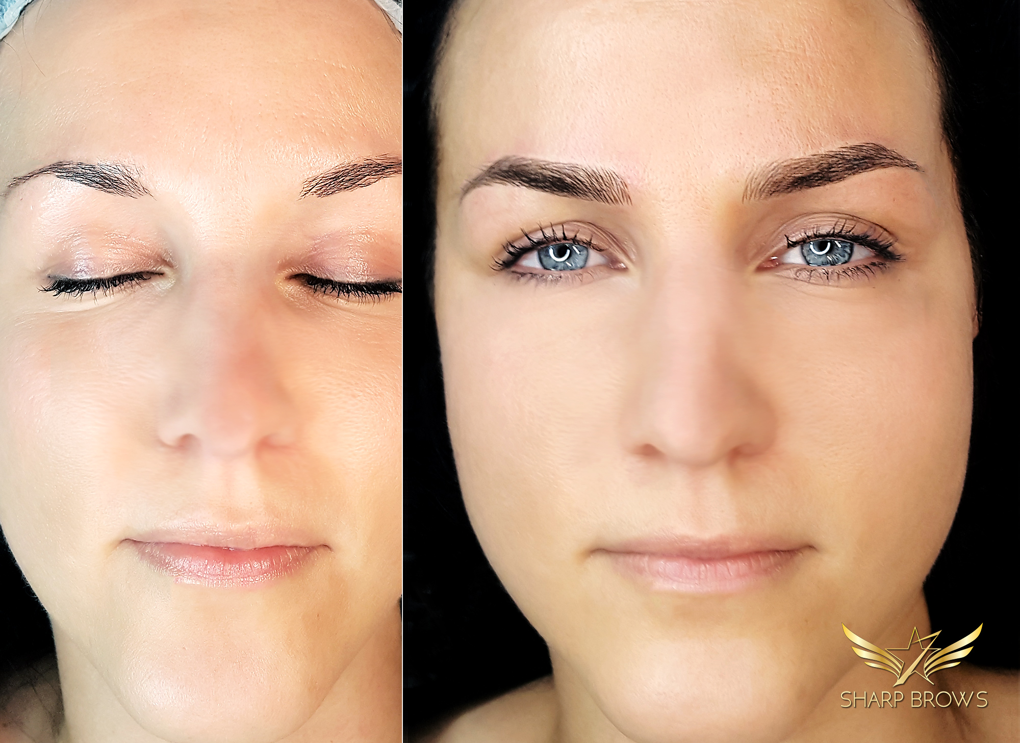 SharpBrows Light microblading - Just a sample how face starts shining the new way with the light microblading technique.