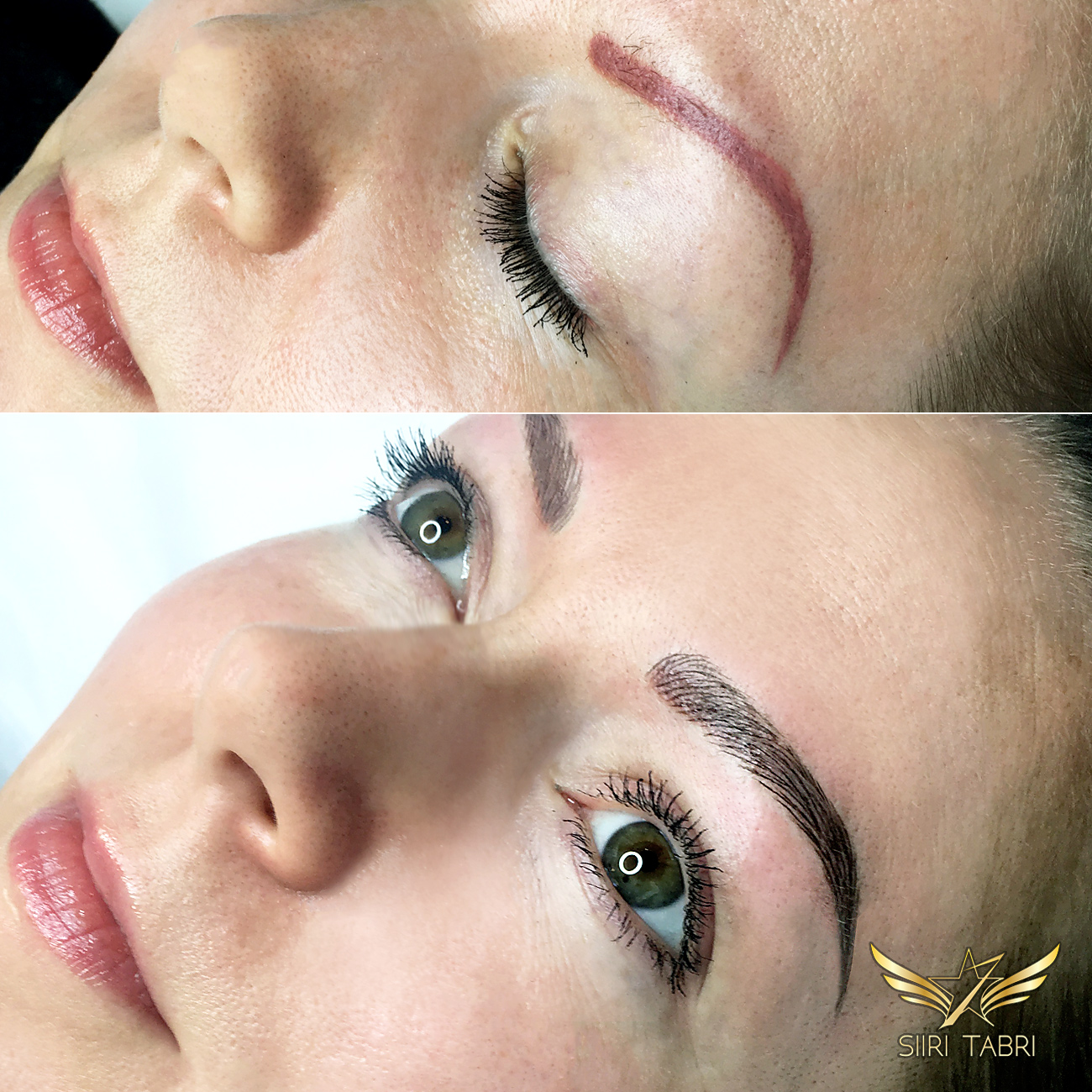 SharpBrows Light microblading. Really strange pigmentation fixed flawlessly with SharpBrows Light microblading and SharpBrows Perfect Save pigments.