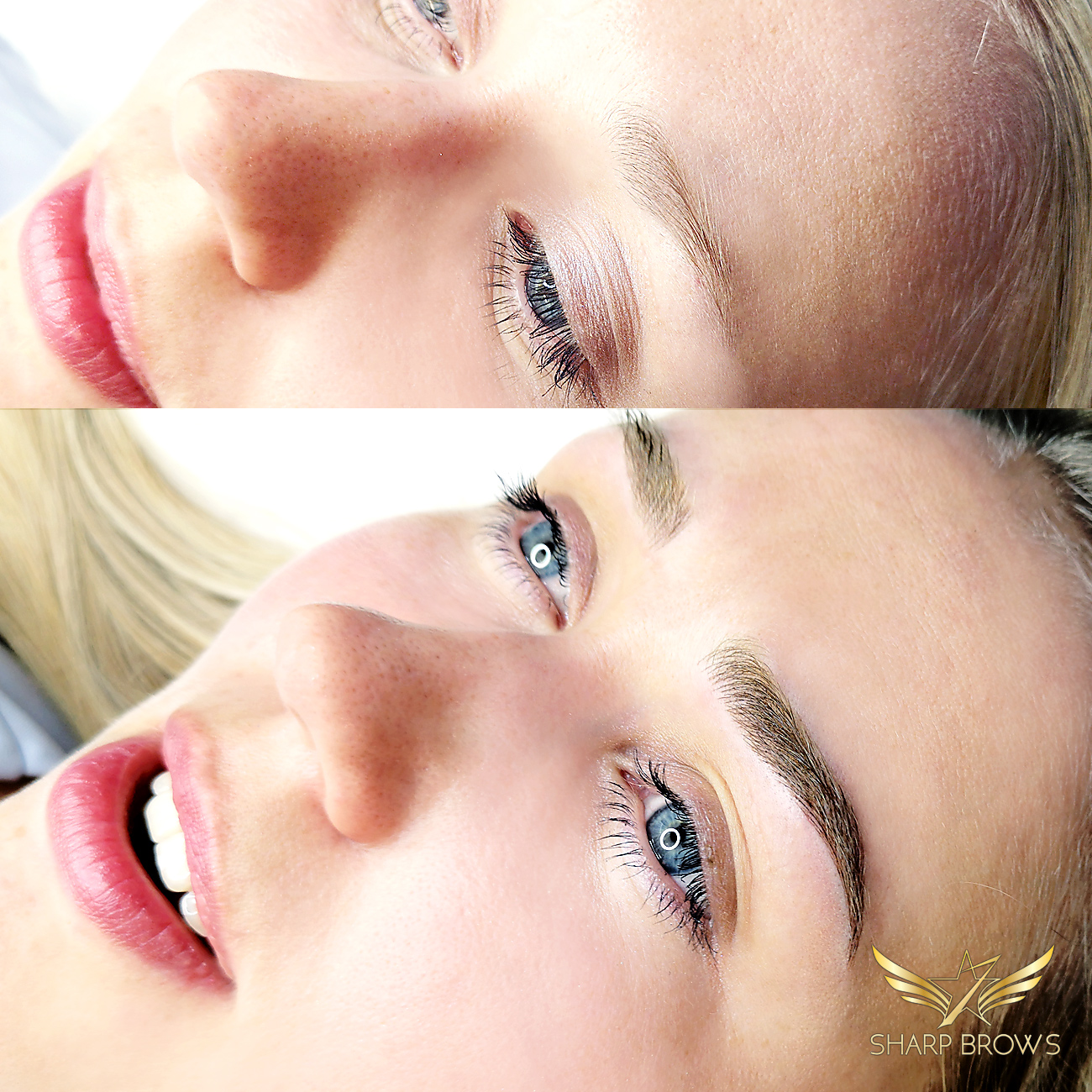 Light microblading - The real beauty of human face is revealed after the brows are corrected. Here is just one sample of the power of light microblading.