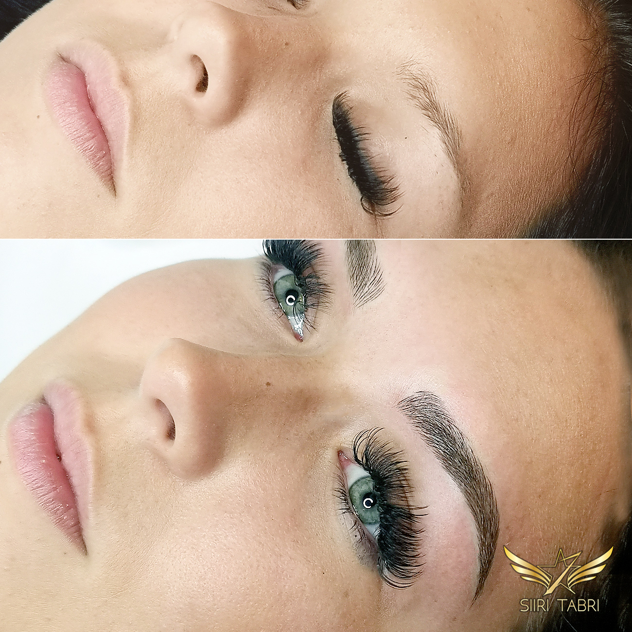 Light microblading. Here's just one change when a pretty girl became even prettier as a result of Light microblading.