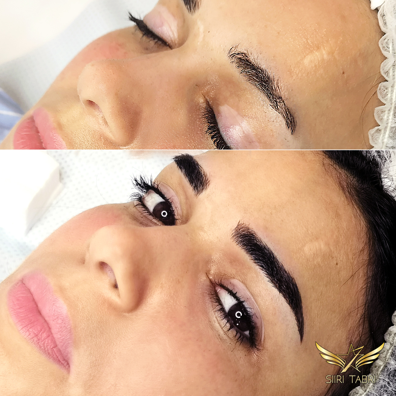 Light microblading. Sometimes the original brow is quite out of shape. With Light microblading we can get it back in shape again.