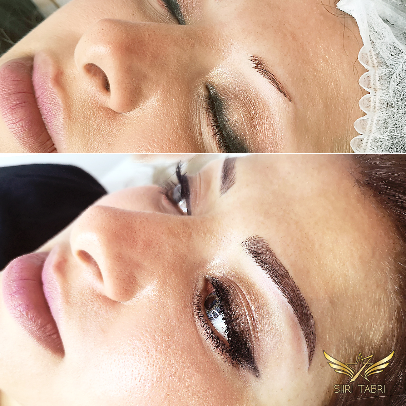 Light microblading. The initial situation was a little bit modest. The end-result in Light microblading technique is just amazing.