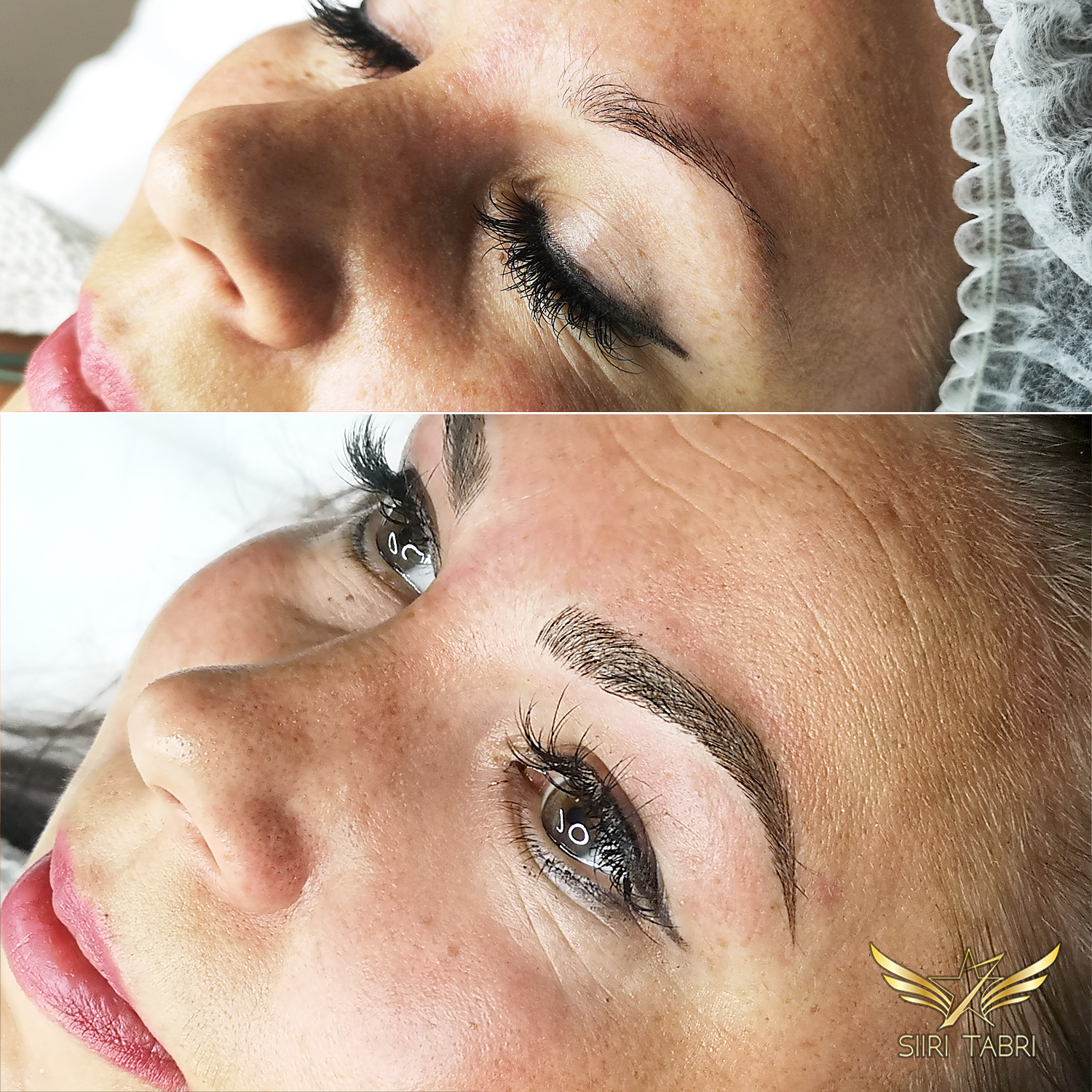 Light microblading. Sometimes a part of the brow is missing. Light microblading is the best solutions in such situations.