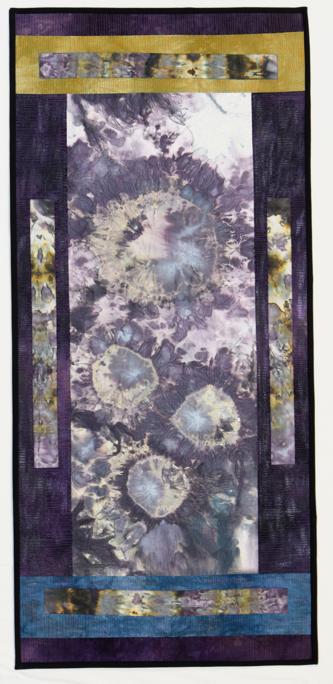 "Blooming in Purple  Jeanne Marklin  23.5"" x 51"""