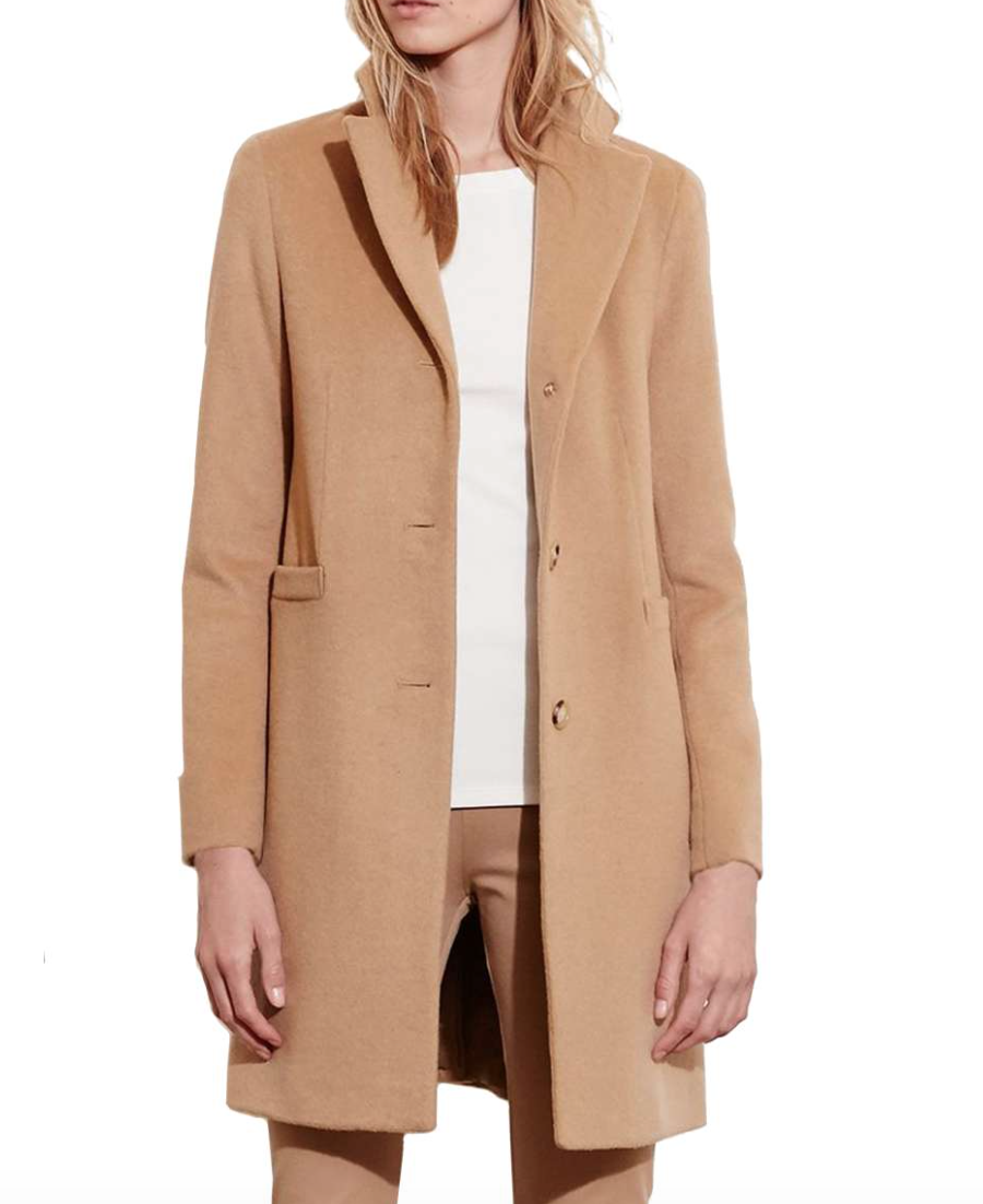 Nordstrom: Ralph Lauren - Wool Blend Reefer Coat
