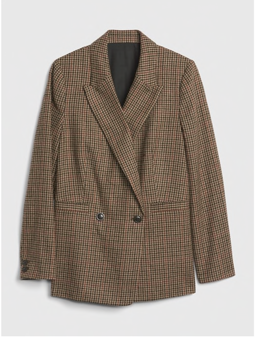 Gap Plaid Blazer $148