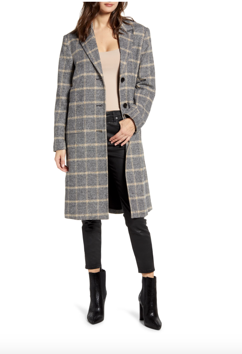 Nordstrom Plaid Coat $100