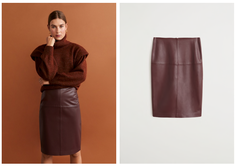 Mango Leather Skirt $49.99
