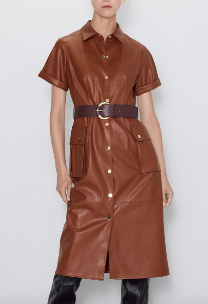 Zara Leather Dress $69.90