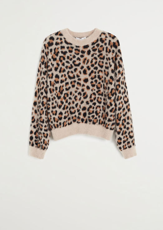 Mango Cheetah Sweater $69.99