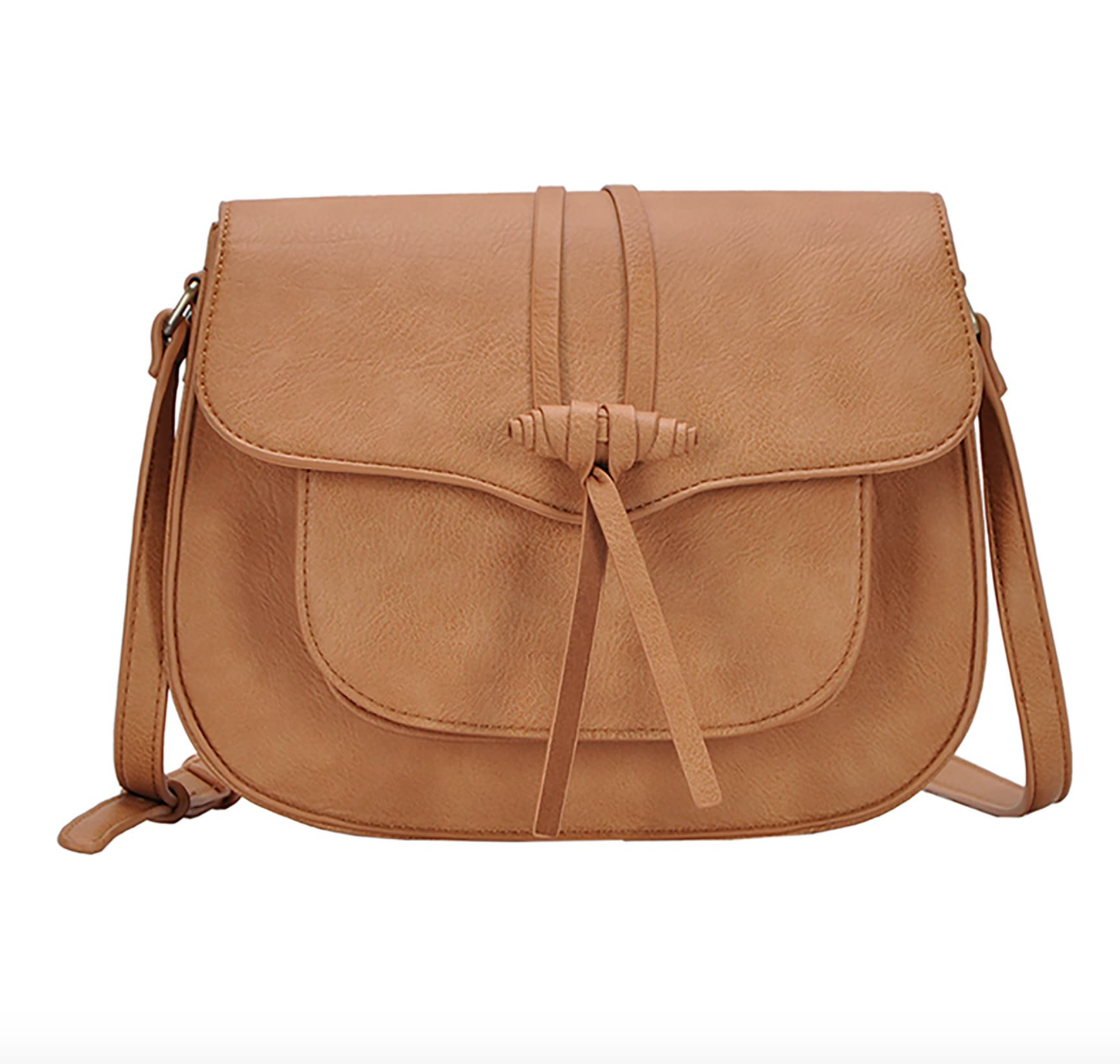 Leather Saddle Bag $48