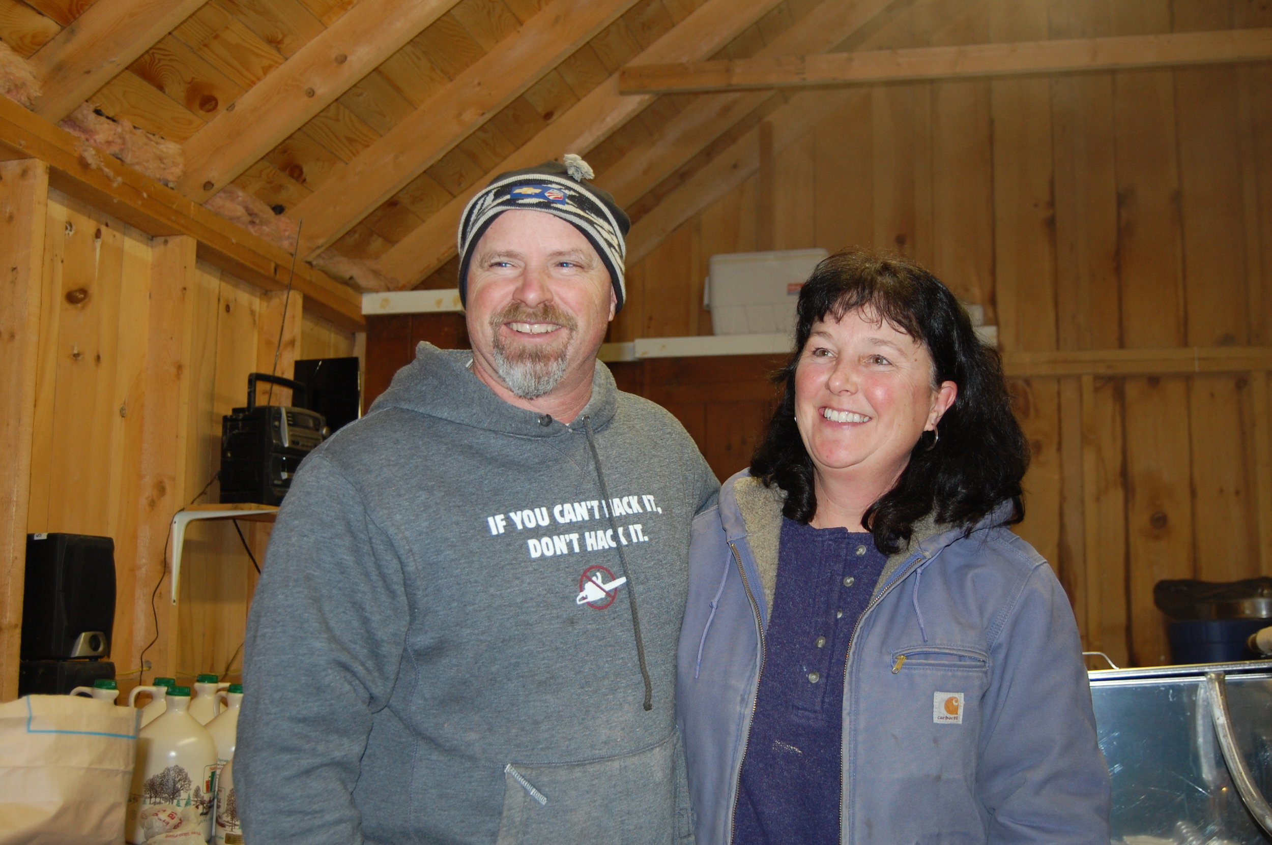Dave and Julie Lane in the sugar house