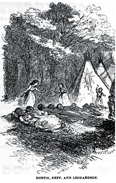 Hannah Duston killing her captors.