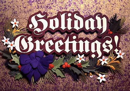 Holiday Greetings, paper sculpture by Denise Ortakales.  © Denise Ortakales