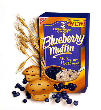 Blueberry Muffin Cream of Wheat, paper sculpture by Denise Ortakales.  © Denise Ortakales