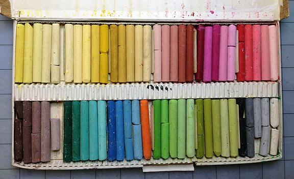 oil pastels pallettea