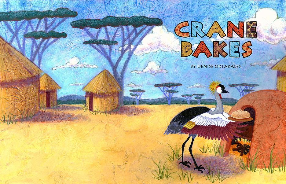 From  Crane Bakes , acrylic © Denise Ortakales