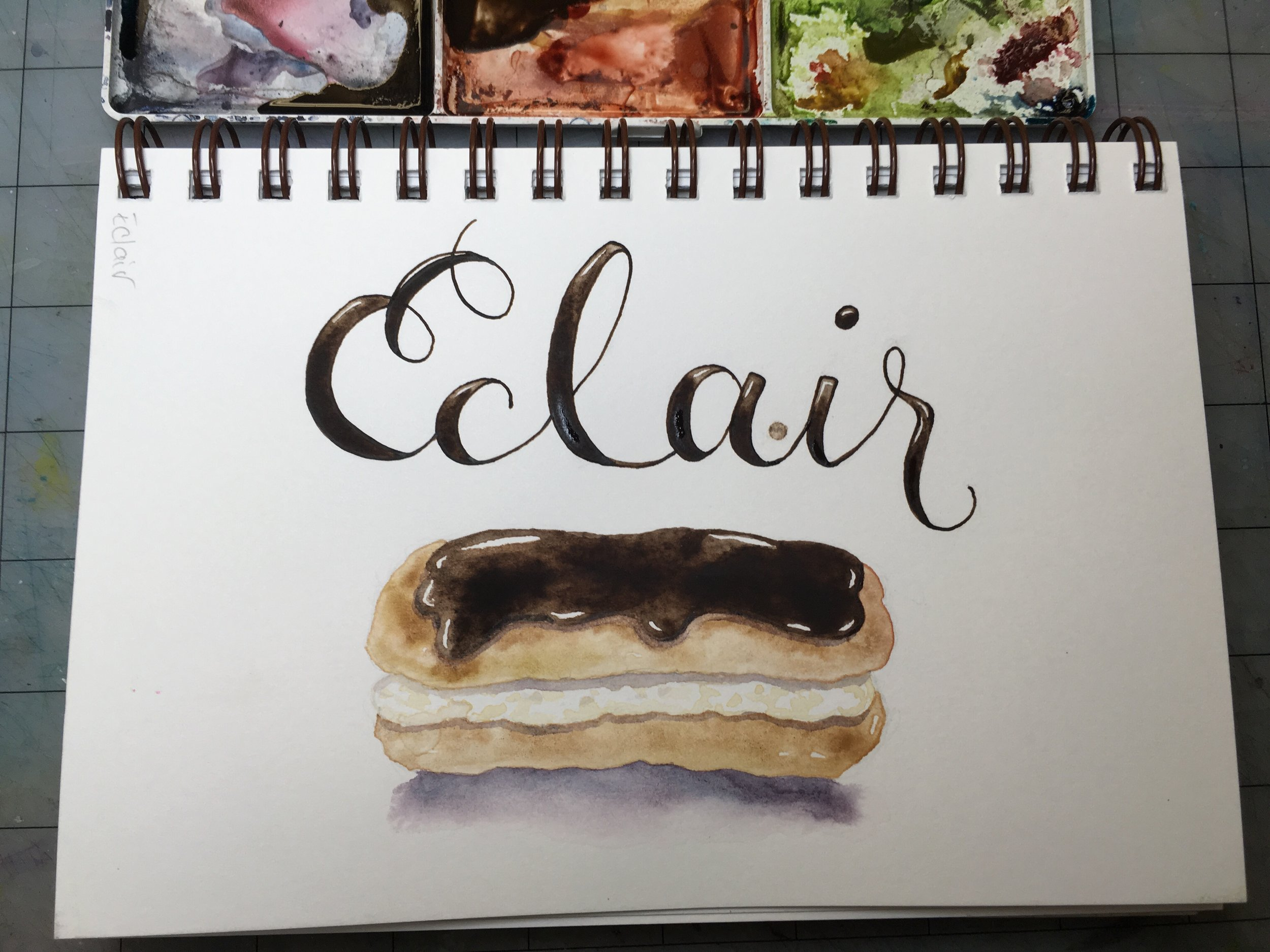 Eclair, watercolor © Denise Ortakales
