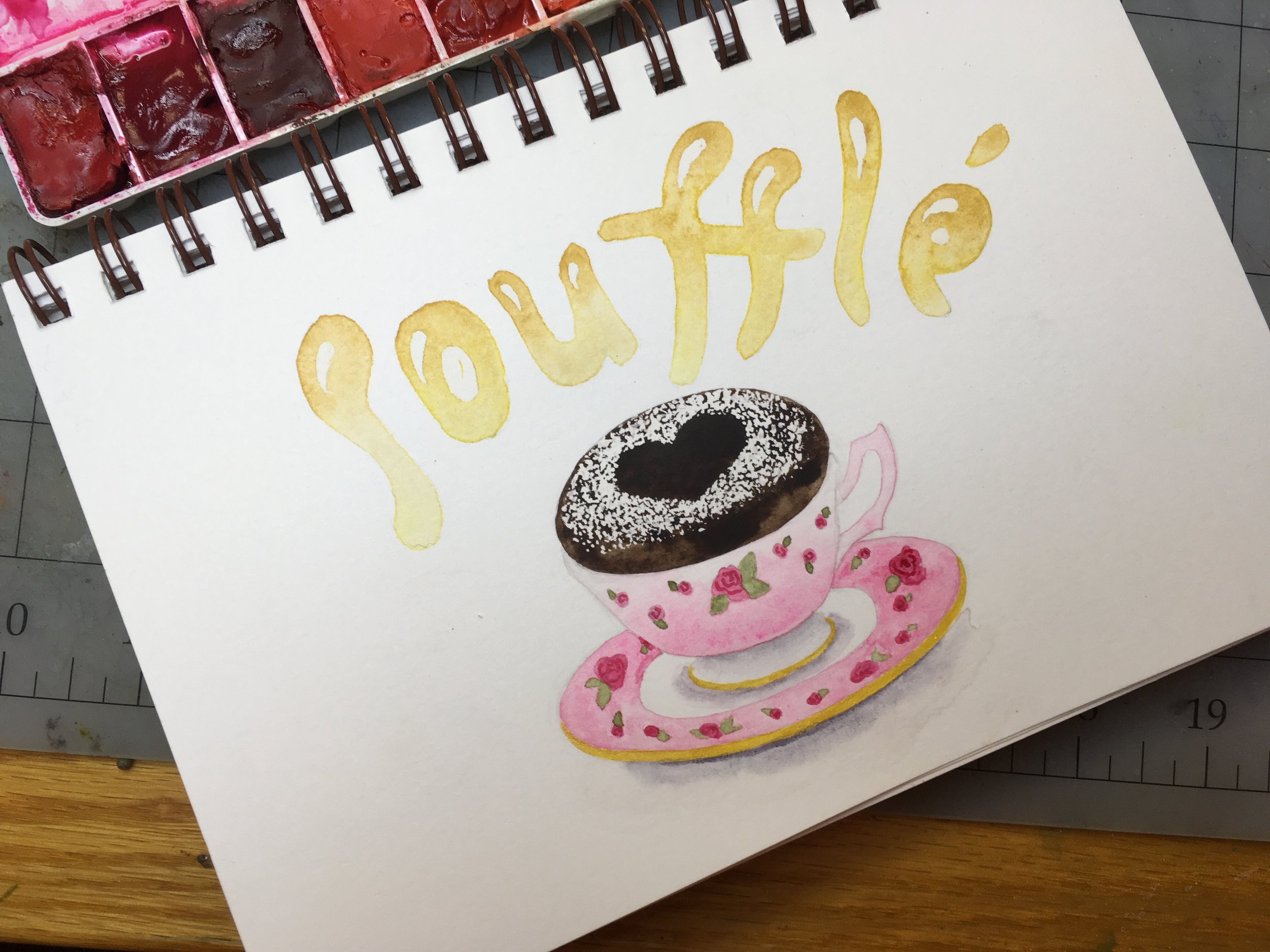 Soufflé, watercolor © Denise Ortakales