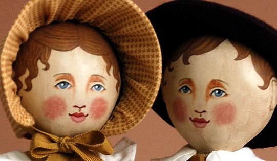 Doll Couple, acrylics © Denise Ortakales