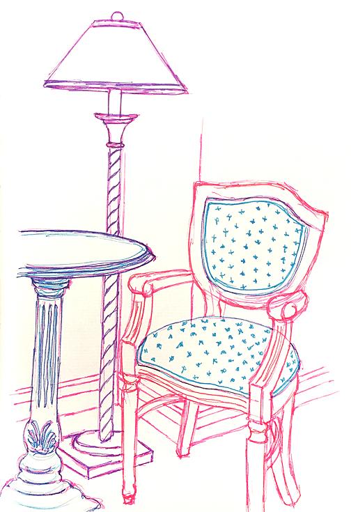 Furniture at Chateau Frontenac, pilot pens © Denise Ortakales